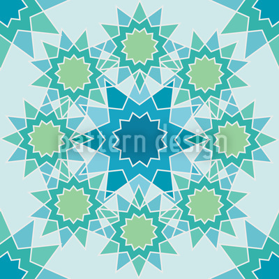 Frozen galaxy Seamless Vector Pattern Design