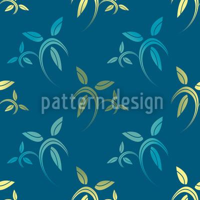 Modernist Blätter Vektor Muster