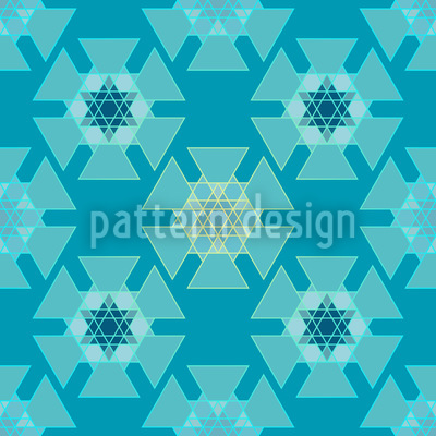 Frozen Triangles Repeat Pattern