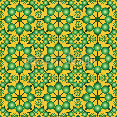 Dimensioned Flowers Pattern Design