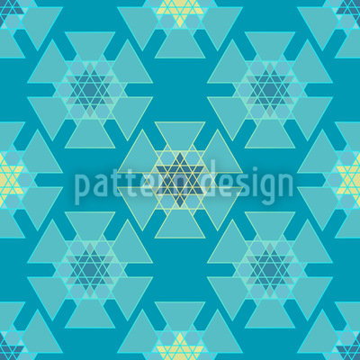 Frozen Stars Seamless Vector Pattern Design
