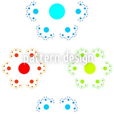 Hexagonal Dotflower Seamless Pattern