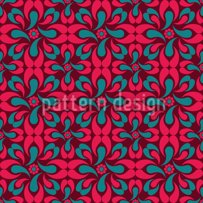 Red Rascal Seamless Vector Pattern Design