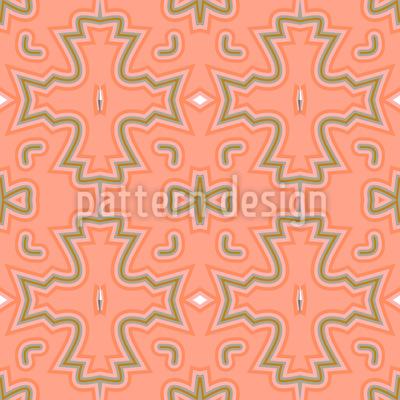 Salmon-Colored Crosses Vector Design