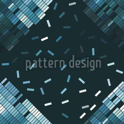Blauer Zerfall Rapportiertes Design