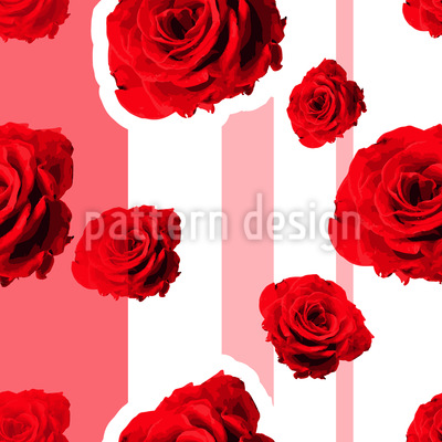 Red roses Seamless Vector Pattern Design