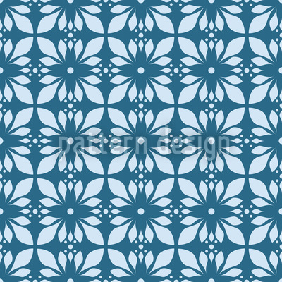 Geometrischer Lotus Nahtloses Vektormuster