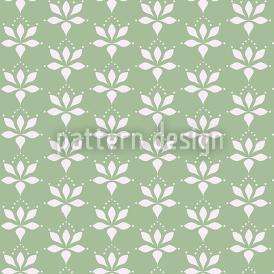 Blossom Drops Green Seamless Vector Pattern Design