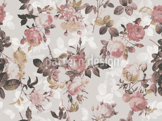 Letzte Englische Rose Nahtloses Vektor Muster