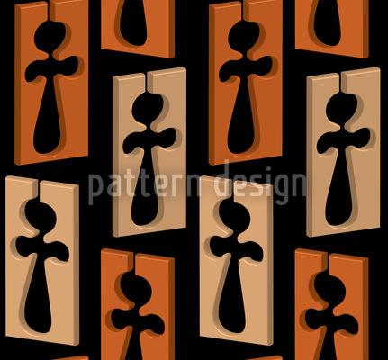 Der Kreuz Mann Vektor Ornament