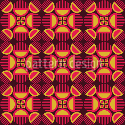 Retro Mystery Vector Pattern