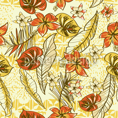 Vintage Hawaii Seamless Vector Pattern Design