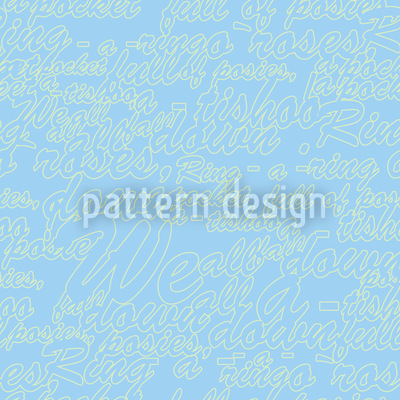 Himmelblaue Worte Rapportiertes Design