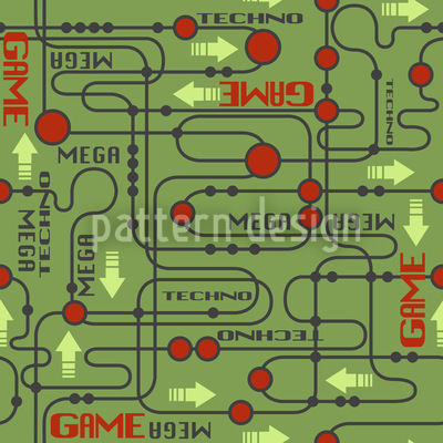 Circuit board Seamless Vector Pattern Design