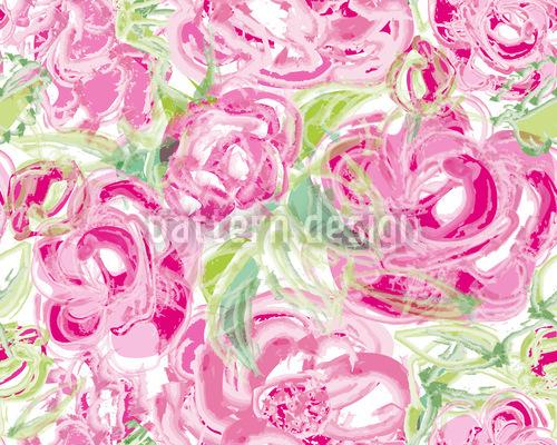 Rosen Aquarell Muster Design