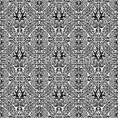 Dark Rokoko Seamless Vector Pattern Design
