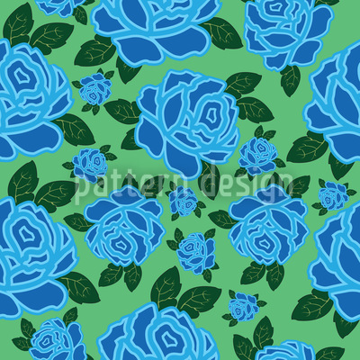 My Ozean Rose Seamless Vector Pattern