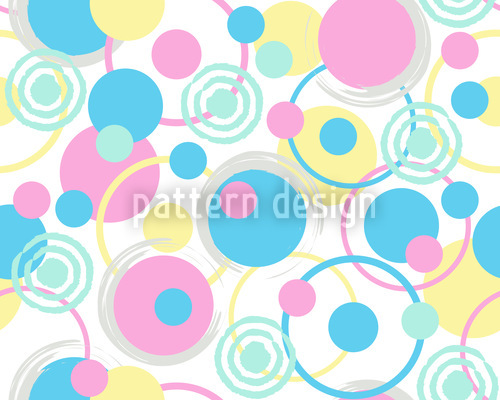 Circle Dreams In Pastel Seamless Vector Pattern Design