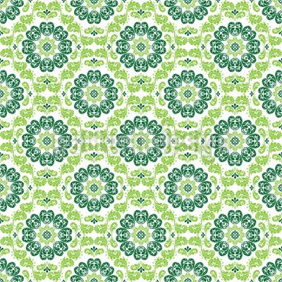 Flora Verde Motif Vectoriel Sans Couture