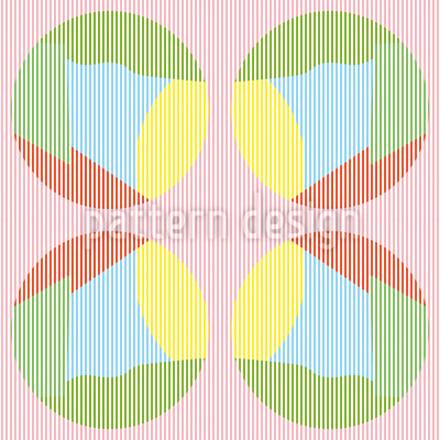 Striped Circles In Pastel Seamless Vector Pattern
