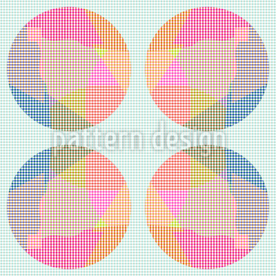 Circle Grid Seamless Vector Pattern Design