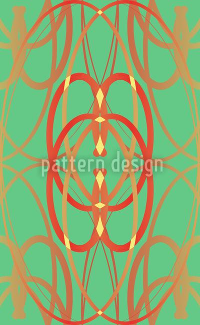 Art Nouveau Minze Nahtloses Muster