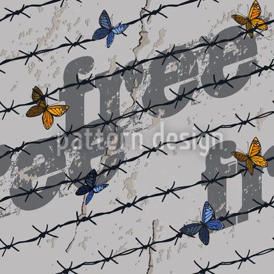 Die Freiheit Der Schmetterlinge Vektor Muster