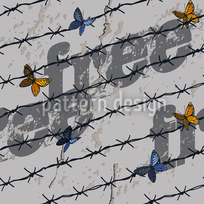 The Freedom Of The Butterflies Vector Pattern