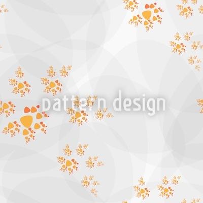 Herbstlicher Spiralentanz Nahtloses Muster
