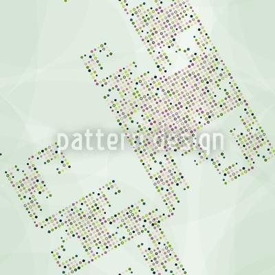 Digital Dots Nahtloses Vektor Muster
