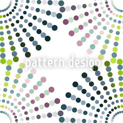 Dot Wheels Repeating Pattern