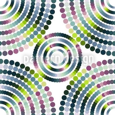 Glimmering Dot Wheels Repeat Pattern