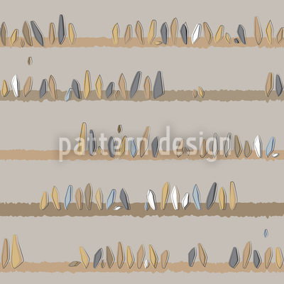 Pedras na loja Design de padrão vetorial sem costura