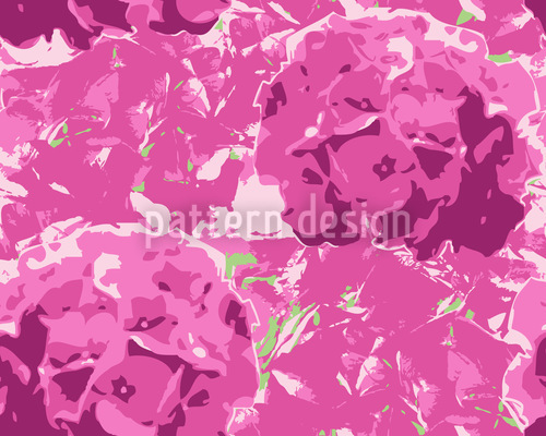 Hortensia Pink Nahtloses Muster