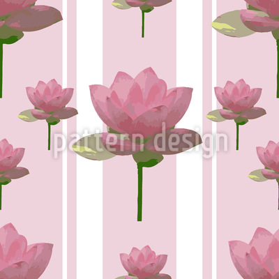 Rosa Lotusblumen Auf Patroullie Nahtloses Vektormuster