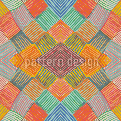 Patchwork Multi Color Vector Ornament