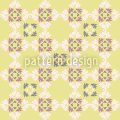 Ines Loves Yellow Flowers Vector Ornament