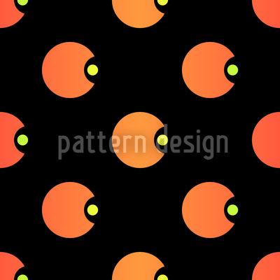Polka Pacman Seamless Vector Pattern