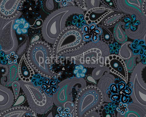 Rusalka Träumt Nachts Von Paisley Rapportiertes Design