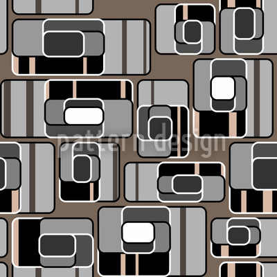 Overflight In Grey Seamless Vector Pattern Design