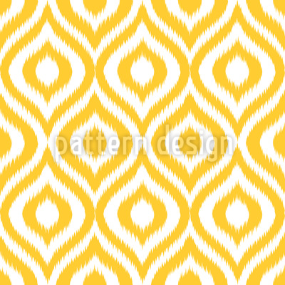 Yellow Ogee Damask Repeating Pattern