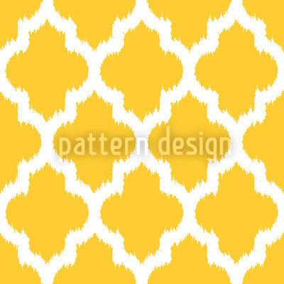 Unique Ikat Yellow Seamless Vector Pattern Design