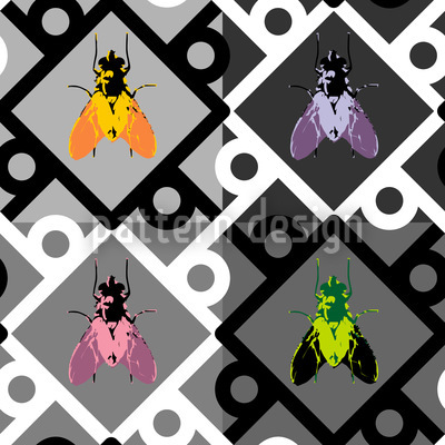 Pop Art Fliege Nahtloses Vektormuster