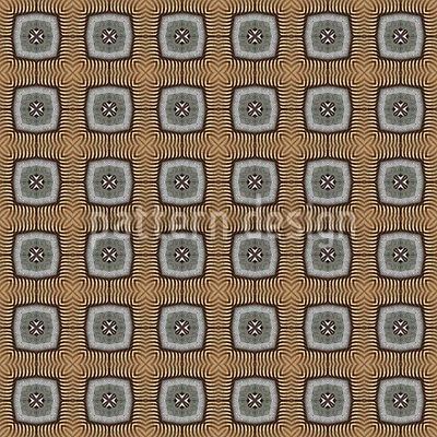 Octógonos em ouro Design de padrão vetorial sem costura