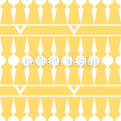 Balkonia Gelb Rapportiertes Design