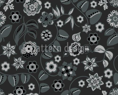 Floral Almrausch À Noite Design de padrão vetorial sem costura