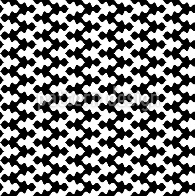 Black Meets White In Zig-Zag Pattern Design