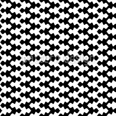 Schwarz Trifft Weiss Im Zick-Zack Muster Design