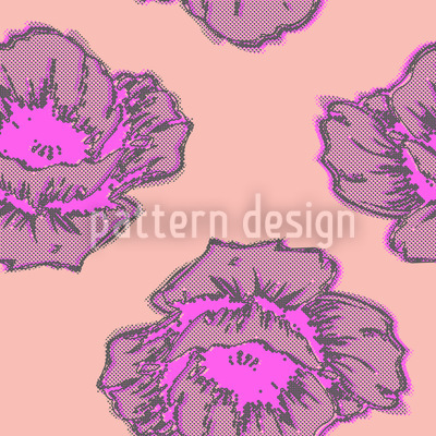 Poppy Art Pattern Design