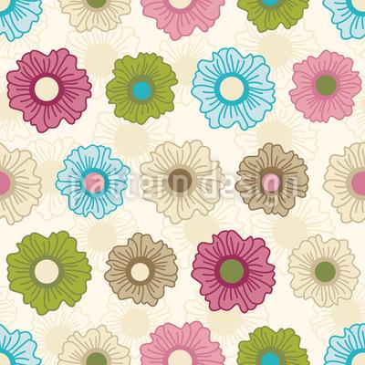 Endloses Blumenglück Designmuster